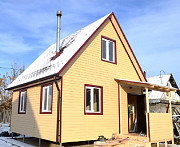 Дачный каркасный дом 5, 5 м х 5, 5 м с мансардой. Тюмень