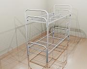 Двухъярусные кровати с металлическими спинками различной конфигурации Рязань