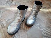 Полусапожки кожа серебро premium плюс крем к ним в подарок Днепропетровск
