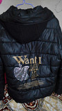 Куртка чёрная с капюшоном демисезонка Днепропетровск