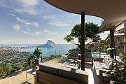 Недвижимость в Испании, Новая вилла с видами на море от застройщика в Кальпе, Коста Бланка, Испания Calp
