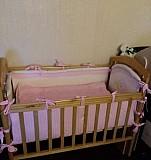 Кровать детская с постельным бельем и матрасом Балашиха