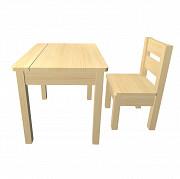 Детский стол и стул из дерева Ульяновск