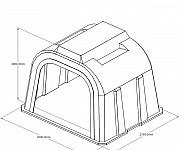 Групповой пластиковый домик для телят 2000x2550x1850 Тула