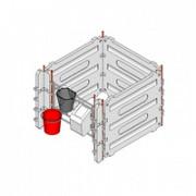 Бокс для теленка 1300x1300 малый двойной с металлическими фронтальными частями Тула