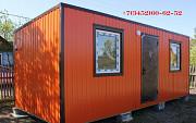 Дачный утеплённый домик с обшивкой цветным профлистом. Тюмень