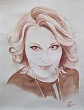 Портрет по фото акварель соком Москва