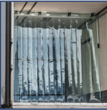 Ленточные ПВХ завесы для дверных проемов магазинов, складов Краснодар