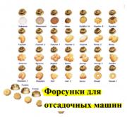 Форсунки для отсадки разнообразного печенья и пряников, а также зефира. Москва