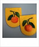Декоративные, накладные карманы ′Мандарины′. Чебоксары