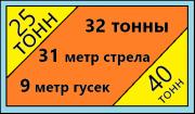 Аренда Автокрана 25 тонн 31 метр стрела и 32 тонны Пушкино Пушкино